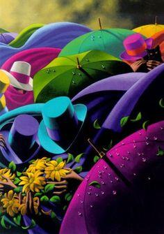 Claude Théberge 1934-2008   Canadian painter   The Umbrellas   Tutt'Art@   Pittura * Scultura * Poesia * Musica  