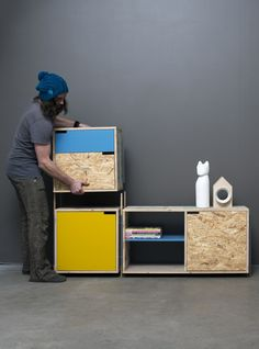 Tõnis Kalve & Ahti Grünberg have a unique design approach with Derelict Furniture; they reclaim wood from industrial scrap upcycling it into fine furniture. Modular Furniture, Recycled Furniture, Plywood Furniture, Fine Furniture, Furniture Plans, Furniture Design, Furniture Market, Wood Design, Diy Design