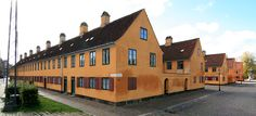 Nyboder, Copenhagen. Very old houses belonging to the navy