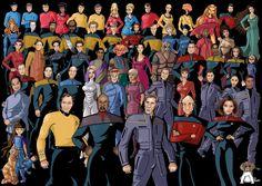 Heroes de Viaje a las Estrellas.