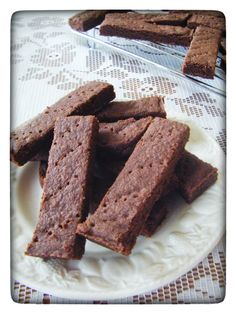 Chocolate Shortbread Fingers from my blog I'd Much Rather Bake Than...