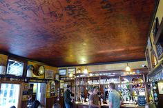 The Eagle pub ceiling, Cambridge UK. Writing by American airmen during the 2nd WW.