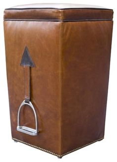Do you have an old broken sturrop? Just attatch to a bin a here is your horsey bin.