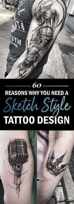60 Reasons Why You Need A Sketched Tattoo Design