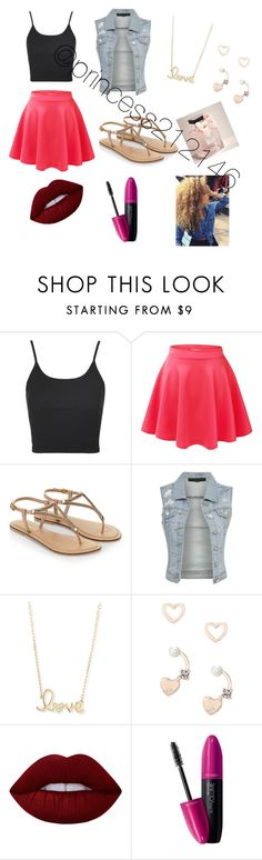 """""""School"""" by princess212146 ❤ liked on Polyvore featuring Topshop, Accessorize, Sydney Evan, Lipsy, Lime Crime, Revlon and Abercrombie & Fitch"""