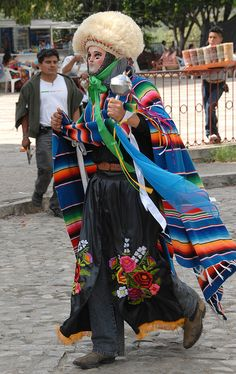 Parachico Chiapas Mexico by Teyacapan, via Flickr - - in the USA it is hard to imagine the current use of these dance masks but the dances are real & meaningful - for more on Mexico visit www.mainlymexican... #Mexico #Mexican #mask