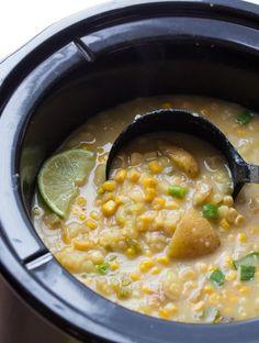 Slow Cooker Potato, Corn and Jalapeno Soup