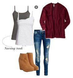 """Fall nursing wear"" by stormiecobbphotography on Polyvore featuring ONLY, Aéropostale, Forever 21, breastfeeding and fall2015"