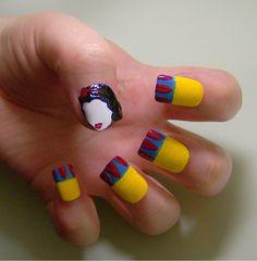 Snow White nails :)