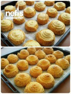 Krem Peynirli Çörek - Nefis Yemek Tarifleri Princess Cookies, Bread Art, Muffins, Sweet Pastries, Pastry Cake, Turkish Recipes, Ice Cream Recipes, Chocolate Recipes, Brunch