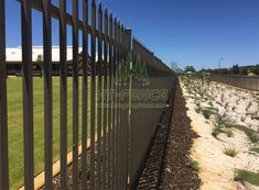 The test of time puts replacement fencing on capital expense list again and again Palisade Fence, Heavy Duty Hinges, Steel Fence, Railroad Tracks, Deck, Roses, Fencing, Outdoor Decor, Popular