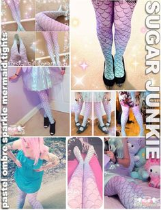 Pastel Mermaid Tights by Sugar Junkie
