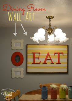 Poppy Seed Projects: Guest Post - DIY Dining Room Wall Art Tutorial {with Poppy Seed Frames and Letters}