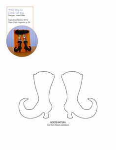 Free witch boots pattern/template #downloadable