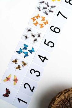 Zahlen lernen in der Kita, im Kindergarten, in der Vorschule. Für Kinder und Kleinkinder. Sieben Spielideen und Druckvorlagen auf meinem Blog: www.chezmamapoule.com