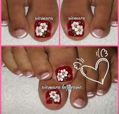 Toe Nail Designs, Manicure And Pedicure, Toe Nails, Veronica, Yuri, Simple Toe Nails, Pretty Toe Nails, Simple Elegant Nails, Toe Nail Art
