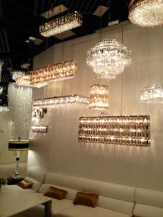 Oh so sparkly! Schonbek chandeliers #JuneSneakPeek
