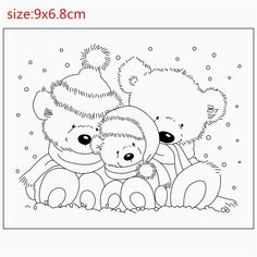 Rubber Silicone Clear Stamps for Scrapbooking Tampons Transparents Seal Background Stamp Card Making Diy bear-in Stamps from Home & G… Disney Coloring Pages, Christmas Coloring Pages, Coloring Book Pages, Easy Christmas Drawings, Christmas Paintings, Christmas Colors, Christmas Art, Tampons Transparents, Illustration Noel