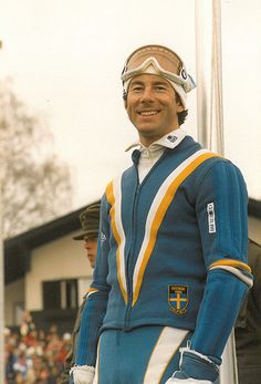 "The ""living legend from Tärnaby"" - Ingemar Stenmark Alpine Skiing, Snow Skiing, Elan Ski, World Cup Skiing, Star Fashion, 70s Fashion, Ski Racing, Vintage Sportswear, Ab Workout Men"