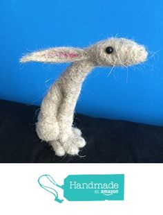 Needle Felted Moon Gazing Hare Art Sculpture from Essence of Tranquility https://www.amazon.co.uk/dp/B01M0J0G3K/ref=hnd_sw_r_pi_dp_knq8xb61KMMM5 #handmadeatamazon