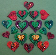 Image result for fall leaves polymer clay