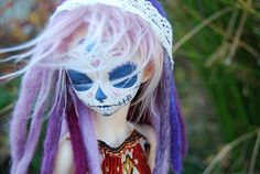 Calavera - Day of the Dead #calavera #doll #skull #bjd #customized #painted #resin #minifee #ryeon