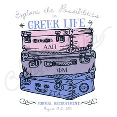 Sorority Recruitment Panhellenic Alpha Delta Pi Suitcase South By Sea