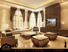 Living Room designed by Eng. Tareq Skaik, Head of Design Department  ALGEDRA Interior Design.   www.algedra.ae  #Design #Home #Bedroom #HomeDecor #Architecture #Decor #InteriorDesign #House #Furniture #Modern #RealEstate #Kitchen #Residence #InteriorDesignIdeas #Beautiful #Decoration #DesignTrends #Ideas #Art #HomeDesign
