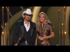 Carrie Underwood And Brad Paisley Poke Fun At Miley At CMAs