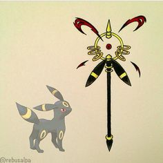 Regram from @rebusalpa, Umbreon Weapon