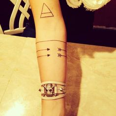 Arrow around arm