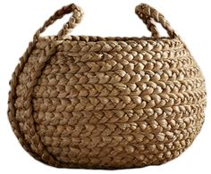Beachcomber Round Handled Baskets Pottery Barn - Our Beachcomber Baskets Are Handwoven From Sustainable Natural Fibers That Are Richly Textured And Bring A Casual Easy Style To Home Organization Ideal For Stowing Pillows Media Components Towels Basket Weaving, Hand Weaving, Home Decor Baskets, Round Basket, Rope Crafts, Diy Crafts, Mothers Day Crafts For Kids, Basket Bag, Blanket Basket