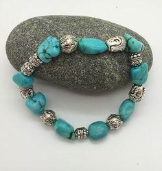 bracelet homme en turquoise et argent avec bouddhas : Bijoux pour hommes par…