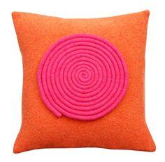 orange and pink cushion by FeltloveCymru