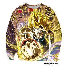 DBZ Fist of Conviction Super Saiyan Bardock Zip Up Hoodie - Dragon Ball Z 3D Zip Up Hoodies And Clothing