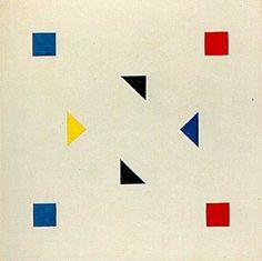 Bart-van-der-Leck-Compositie-1918-1920 Bauhaus, Textures Patterns, Print Patterns, Project Abstract, Abstract Shapes, Geometric Art, Abstract Art, Dutch Artists, Elements Of Art