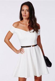 Satyra Ponte Bardot Skater Dress - Skater Dresses - Missguided