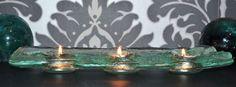 ATMOSPHERIC TEA LIGHT HOLDER 3 CANDLES  HANDMADE