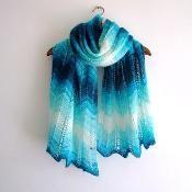 Knitting: lacy zig zag shawl