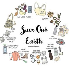 Save our Earth 💚 . Just a few ways you can help save our beautiful earth. It's not about doing everything, it's… Save Planet Earth, Save Our Earth, Save The Planet, Help The Environment, Diy Blog, Green Life, Sustainable Living, Sustainable Clothes, Sustainable Ideas