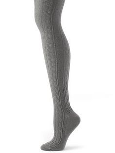 Cable knit over-the-knee sock | Banana Republic