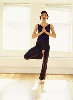 tree pose for stress