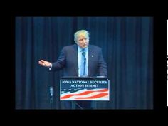 Donald Trump - Iowa National Security Action Summit - YouTube VOTE FOR TRUMP HE IS NOT AFRAID OF GLOBALIST SCUM THERE IS HOPE AMERICA
