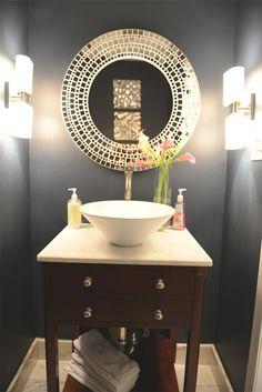 Idéias de Design de interiores lavabo inspiradoras azul lavabo - sala de decoração Home Interior Design