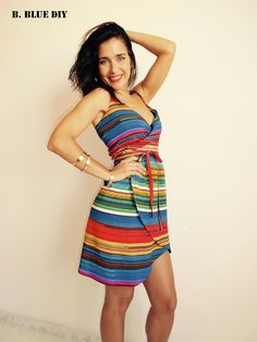 DIY wrap dress, easy and without patterns! Videotutorial included!