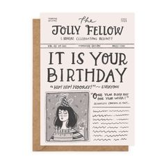 The Jolly Fellow — Rachel Corcoran Illustration 50th Birthday Wishes, Happy Birthday Greeting Card, Birthday Cards, Irish Greetings, Morning Edition, First Mothers Day, Planner Template, Kraft Envelopes, Greeting Cards Handmade