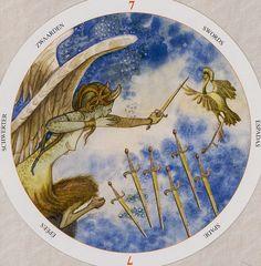 Seven of Swords - Circle of Life Tarot by Maria Distefano