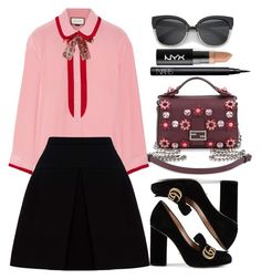 """""""Outfit"""" by meloprea on Polyvore featuring Fendi, Gucci, Miu Miu, NARS Cosmetics and NYX"""