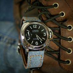 Going with a casual combo for our Stone Washed Jeans Strap on the Panerai 111, Luminor Marina, Luxe Life, Cool Watches, Watch Straps, Stone, Jeans, Casual, Men