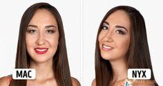 Cómo luce lamisma chica con maquillajes de5marcas distintas